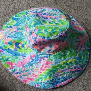 Lily Pulitzer Ride the Wave Sun Beach Hat  NWOT